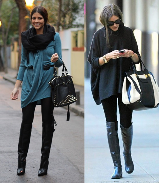 01_looks-com-legging-para-trabalhar_-legging-preta_blusa-ampla